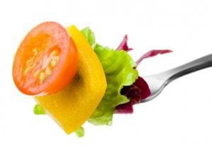 fork of food